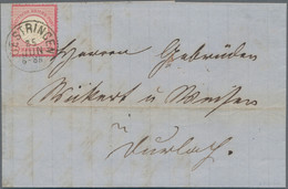 Deutsches Reich - Brustschild: 1872, Großer Schild 3 Kr. Karmin, Farbfrisches Exemplar In Guter Präg - Briefe U. Dokumente
