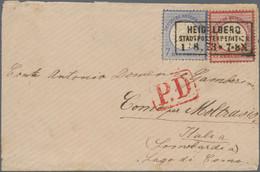 Deutsches Reich - Brustschild: 1872, Großer Schild 3 Kr. Karmin Und 7 Kr. Ultramarin, Zwei Farbfrisc - Briefe U. Dokumente