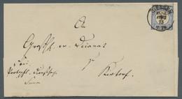 Deutsches Reich - Brustschild: 1873, Großer Brustschild, 7 Kreuzer Ultramarin Als Einzelfrankatur (p - Briefe U. Dokumente