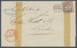 Deutsches Reich - Brustschild: 1873, Großer Brustschild, 9 Kreuzer Rötlichbraun, Als Einzelfranktaur - Briefe U. Dokumente