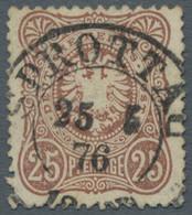 Deutsches Reich - Pfennige: 1875, Partie Von 2 Gestempelten Werten Der 25 Pfennige Mit Ausgabetypisc - Gebraucht