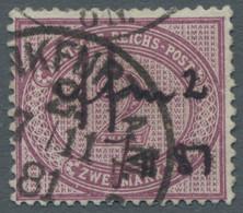 Deutsches Reich - Pfennige: 1875, Innendienst 2 Mark In Der Farbvariante Violettpurpur Mit Ausgabety - Gebraucht