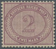 """Deutsches Reich - Pfennige: 1899, 2 Mark Violettpurpur, Neudruck Bzw. Früher Als """"Spätauflage"""" Klass - Ohne Zuordnung"""