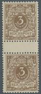 Deutsches Reich - Krone / Adler: 1889, 3 Pfg. Gelbbraun, Die Frühe Auflage Als Farbfrisches, Einwand - Ungebraucht