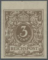 Deutsches Reich - Krone / Adler: 1889-1899, Drei Ungezähnte Probedrucke Bzw. Neudrucke In Postfrisch - Ungebraucht