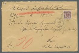 Deutsches Reich - Krone / Adler: 1899, 50 Pfg. Lilabraun Als Einzelfrankatur Auf Wertbrief (vertikal - Briefe U. Dokumente