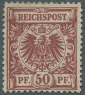 Deutsches Reich - Krone / Adler: 1889, 50 Pfg. (lebhaft-)braunrot, Gut Gezähntes Und Farbfrisches Ex - Ungebraucht