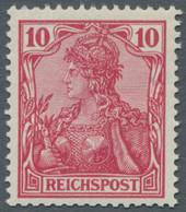 Deutsches Reich - Germania: 1900, Reichspost, 10 Pfg. In Der Seltenen Farbe (dunkel)rotkarmin, Frisc - Ungebraucht