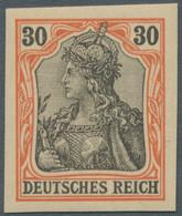 Deutsches Reich - Germania: 1902, Ohne Wasserzeichen, Der Komplette Satz Ungezähnt Und Einwandfrei P - Ungebraucht