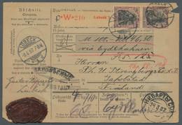 Deutsches Reich - Germania: 1907, 50 Pfg. Lila Auf Chromgelb, Senkrechtes Paar Und Rückseitig Weiter - Briefe U. Dokumente