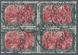 """Deutsches Reich - Germania: 1906, """"5 Mark Reichsgründungsgedenkfeier Im Friedensdruck, Mittelstück B - Gebraucht"""