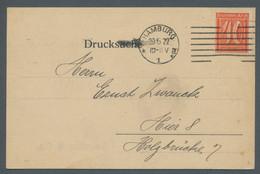"""Deutsches Reich - Inflation: 1921, Freimarke 40 Pfennig Entwertet Mit Maschinenstempel """"Hamburg 20.5 - Briefe U. Dokumente"""