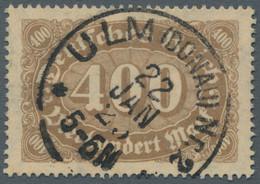 Deutsches Reich - Inflation: 1923, Ziffern, 400 Mark In Den Seltenen Farben Orangebraun Bzw. Hellbra - Gebraucht