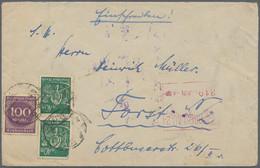 Deutsches Reich - Inflation: 1923, 100 Mark Und 2x 40 Mark (1 Marke Mängel) Mit Automaten-Einschreib - Briefe U. Dokumente