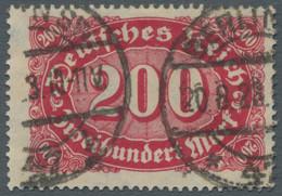 """Deutsches Reich - Inflation: 1922, """"Ziffern Im Queroval"""" 200 Mark In Der Besseren Farbvariante Lebha - Gebraucht"""