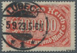 """Deutsches Reich - Inflation: 1922, """"Ziffern Im Queroval"""" 100.000 Mark (dunkel)zinnober Bis (dunkel)o - Gebraucht"""