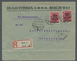 Deutsches Reich - Inflation: 1923, 2 Stück Der Freimarke 20 Tausend Auf 200 Mark Lilarot Mit Weitem - Ohne Zuordnung