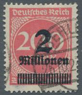Deutsches Reich - Inflation: 1923, Freimarke 2 Millionen Auf 200 Mark Mit Liegendem Wasserzeichen Ge - Gebraucht
