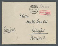 """Deutsches Reich - Inflation: 1923, Markenloser Brief Mit Stempel """"Gettorf 11.9.23"""" Sowie Rotem """"Gebü - Briefe U. Dokumente"""