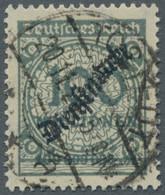 """Deutsches Reich - Dienstmarken: 1923, """"Schlangenaufdruck"""", 100 Millionen Dunkelgrüngrau, Sehr Gut Ze - Dienstpost"""