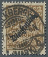 """Deutsches Reich - Dienstmarken: 1923, Schlangenaufdruck """"Dienstmarke"""" Auf 200 Millionen Ockerbraun, - Dienstpost"""