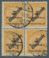 """Deutsches Reich - Dienstmarken: 1923, Schlangenaufdruck """"Dienstmarke"""", 5 Milliarden Gestempelt """"Kalk - Dienstpost"""