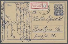 Deutsches Reich - Lokalausgaben 1918/23: 1923, Lokalausgabe Ganzsache Halle (Saale), Mit Gebührenzet - Briefe U. Dokumente