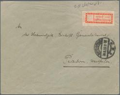 Deutsches Reich - Lokalausgaben 1918/23: HALLE: 1923, Gebührenzettel Mit Fehldruck (ähnlich Doppeldr - Briefe U. Dokumente