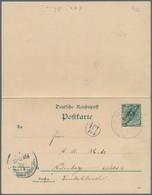 Deutsch-Neuguinea - Ganzsachen: 1900, Gebrauchte Ganzsachenpostkarte Mit Bezahlter Antwort Wst. Kron - Kolonie: Deutsch-Neuguinea
