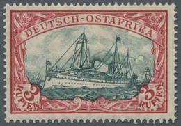 Deutsch-Ostafrika: 1919, Kriegsdruck, 3 Rupien Schwärzlichkarminrot / Grünschwarz, 26:17 Zähnungslöc - Kolonie: Deutsch-Ostafrika