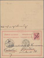 Deutsch-Ostafrika - Ganzsachen: 1896, Gebrauchte Ganzsachenpostkarte Mit Bezahlter Antwort Und Schwa - Kolonie: Deutsch-Ostafrika