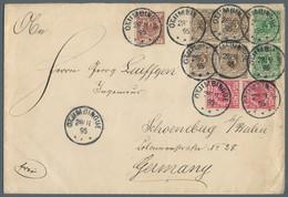 Deutsch-Südwestafrika - Vorläufer: Otyimbingue: 1895, Krone/Adler, Viermal 3 Pf., Zweimal 5 Pf., Zwe - Kolonie: Deutsch-Südwestafrika