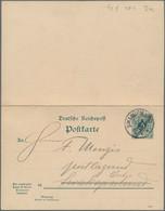 Deutsch-Südwestafrika - Ganzsachen: 1901, Gebrauchte Ganzsachenpostkarte Mit Bezahlter Antwort Wst. - Kolonie: Deutsch-Südwestafrika