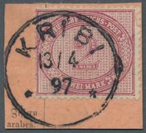 Deutsche Kolonien - Kamerun-Vorläufer: 1897, 2 Mk. Dunkelrotkarmin, Auf Postanweisungsabschnitt Mit - Kolonie: Kamerun