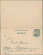Deutsche Kolonien - Samoa - Ganzsachen: 1906, Bedarfs- Und Portogerecht Verwendete Ganzsachenpostkar - Kolonie: Samoa