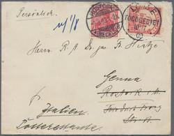 Deutsche Kolonien - Togo: 1903, 10 Pf Yacht Auf Brief Von LOME(TOGOGEBIET), 10/7 03, Nach Rostock, D - Kolonie: Togo