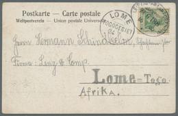 Deutsche Kolonien - Togo - Besonderheiten: 1905, Sechs Ansichtskarten (vier Mit Germania, Zwei Mit B - Kolonie: Togo