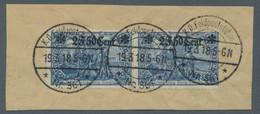 Deutsche Besetzung I. WK: Etappengebiet West: 1916, Freimarke 2 F. 50 Cent Auf 2 Mark Mit 25 : 17 Zä - Besetzungen 1914-18