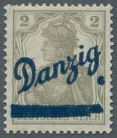 Danzig: 1920, Kleiner Innendienst, Kompletter Satz Ungebraucht, Bis Auf Die Drei Billigen Werte Alle - Danzig