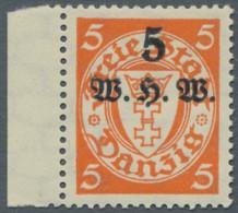 Danzig: 1934, Winterhilfswerk, Kompletter Satz Tadellos Postfrisch, Rückseitig Kleine Eigentümersign - Danzig