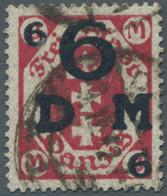 """Danzig - Dienstmarken: 1922, """"6 Auf 3 Mark Karminrot"""", Die Gute Farbe In Einwandfreier Erhaltung, Ge - Danzig"""