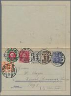 Danzig - Ganzsachen: 1920/1921, Partie Mit 5 Verschiedenen Ganzsachen, Alle Portogerecht Mit Zusatzf - Danzig