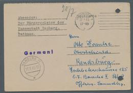 Alliierte Besetzung - Ganzsachen Behelf: Britische Zone: HAMBURG 11; 1945, Amtliches Formular Als No - Bizone