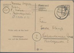 Alliierte Besetzung - Ganzsachen Behelf: Britische Zone: 1946. Postkarte 6 Pfg Mit Abklatsch Des Rs. - Bizone