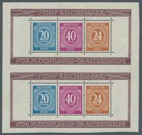 Alliierte Besetzung - Gemeinschaftsausgabe: 1946, Kleine Partie Des Zeughausblocks, Bestehend Aus Bl - Gemeinschaftsausgaben