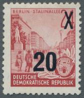DDR: 1954, Fünfjahresplan 20 Auf 24 (Pf.) Urmarke Im Offsetdruck Mit Sauberem Erstfalz Mit Altprüfun - Ungebraucht