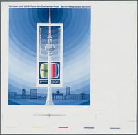 """DDR: 1969. Blockausgabe """"Fernsehturm"""" In Fünf Verschiedenen Phasendrucken Im Großen Format (ca. 140 - Ungebraucht"""