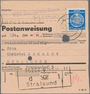 DDR - Dienstmarken A (Verwaltungspost B): 1954, 60 Pf Ultramarin, EF Auf Postanweisung über 150 Mark - Dienstpost