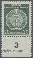 DDR - Dienstmarken A (Verwaltungspost B): 1956, Dienstmarke 20 Pfennig Auf Faserpapier Mit Wasserzei - Dienstpost