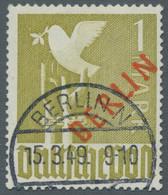 Berlin: 1949, Rotaufdruck 14 Werte Komplett Gestempelt In Guter Erhaltung Geprüft A. Bzw. D. Schlege - Gebraucht